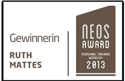Ruth Mattes: Gewinnerin des NEOS AWARD Personal Trainer weiblich 2013